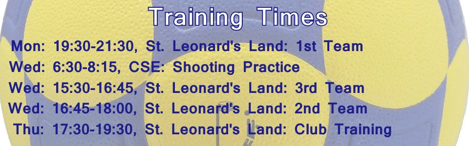 Training Times Banner